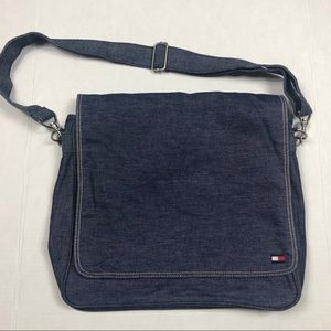 Tommy Hilfiger denim messenger bag